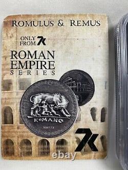 Cook Islands 2021 Romulus & Remus MS70 Antiqued 1oz Silver-Roman Empire Series