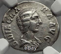 DIDIA CLARA DIDIUS JULIANUS daughter Silver Denarius Roman Coin RARE NGC i58296