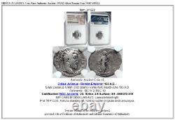 DIDIUS JULIANUS Very Rare Authentic Ancient 193AD Silver Roman Coin NGC i81822