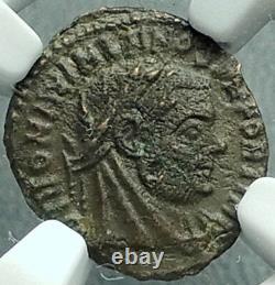 Divus MAXIMIAN under Constantine I 317AD Ancient Roman Coin Lion NGC ChAU i66370