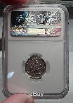Divus VESPASIAN Consecratio under Trajan Decius Silver Roman Coin NGC AU i60096