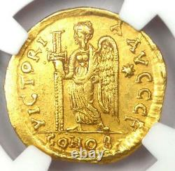 Eastern Roman Anastasius I AV Solidus Gold Coin 491-518 AD Certified NGC Ch XF