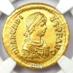 Eastern Roman Arcadius AV Solidus Gold Coin 383-408 AD Certified NGC AU