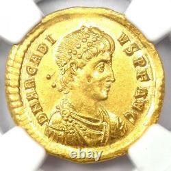 Eastern Roman Arcadius AV Solidus Gold Coin 383-408 AD. Certified NGC Choice AU