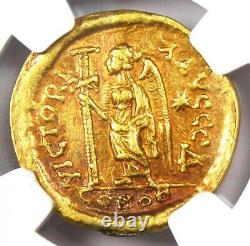 Eastern Roman Leo I AV Solidus Gold Coin 457-474 AD Certified NGC XF (EF)