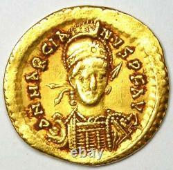 Eastern Roman Marcian AV Solidus Gold Coin 450-457 AD. NGC XF (Certificate)