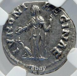 FAUSTINA II Jr Wife of MARCUS AURELIUS Ancient Silver Roman Coin NGC i82609