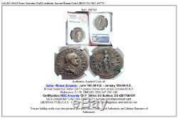 GALBA 68AD Rome Sestertius RARE Authentic Ancient Roman Coin LIBERTAS NGC i68740