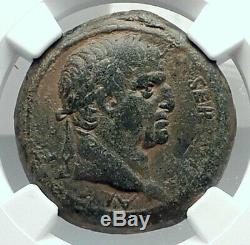 GALBA 68AD Very RARE Authentic Ancient Genuine Antioch Roman Coin SC NGC i78892