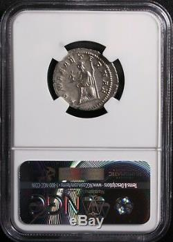 GORDIAN III Ancient Silver Roman Coin 238-244AD Rome Coin NGC Graded AU-sharp