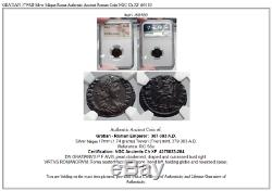 GRATIAN 379AD Silver Siliqua Roma Authentic Ancient Roman Coin NGC Ch XF i60180