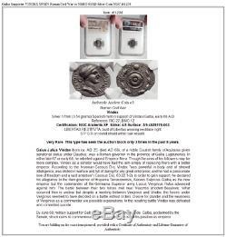 Galba Supporter VINDEX SPAIN Roman Civil War vs NERO 68AD Silver Coin NGC i61204