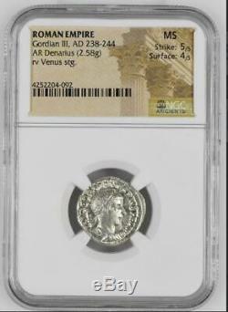 Gordian III, AD 238-244 ROMAN EMPIRE AR Denarius 1 Authenticated Roman Coin