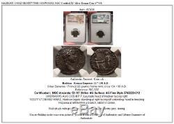 HADRIAN 134AD RESTITVTORI HISPANIAE NGC Certified XF Silver Roman Coin i57436