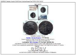 HADRIAN Authentic Ancient 124AD Rome Sestertius Roman Coin VIRTUS NGC i82363