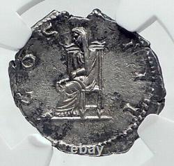 HADRIAN Authentic Ancient 128AD Rome Silver Roman Coin PUDICITIA NGC i81133