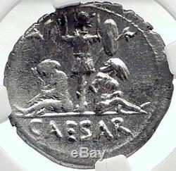 JULIUS CAESAR 46BC VERCIGETORIX Win Venus NGC Certified Silver Roman Coin i70005