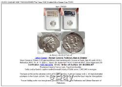 JULIUS CAESAR 46BC VERCIGETORIX Win Venus NGC Certified Silver Roman Coin i75090