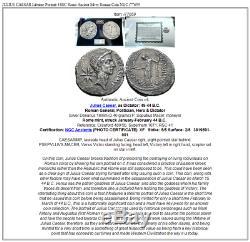 JULIUS CAESAR Lifetime Portrait 44BC Rome Ancient Silver Roman Coin NGC i77659