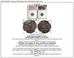 JULIUS CAESAR vs Vercingetorix TROPHY Ancient Silver 48BC Roman Coin NGC i69584