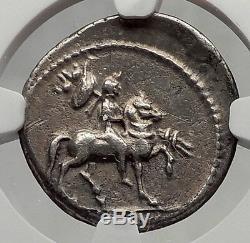 LEPIDUS as Moneyer Triumvir with Mark Antony Augustus Silver Roman Coin NGC i61202