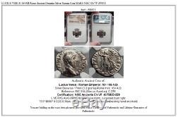 LUCIUS VERUS 164AD Rome Ancient Denarius Silver Roman Coin MARS NGC Ch VF i59831