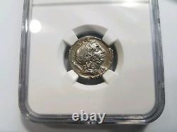 Lentulus Roman Republic 75 BC NGC AU Denarius Genius Scepter Globe Ancient Coin