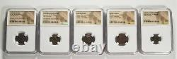 (Lot of 5 Different) Roman Empire Ancient Coins NGC Certified
