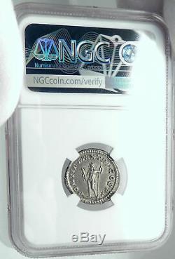 MACRINUS Authentic Ancient 217AD Silver Denarius Roman Coin w JUPITER ZEUS NGC