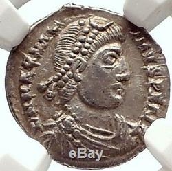 MAGNUS MAXIMUS Authentic Ancient 384AD Silver Siliqua Roman Coin NGC i69592