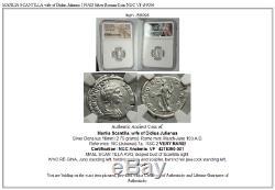 MANLIA SCANTILLA wife of Didius Julianus 193AD Silver Roman Coin NGC VF i59096