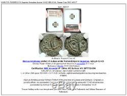 MARCUS AMBIBULUS Augustus Jerusalem Ancient 10AD BIBLICAL Roman Coin NGC i68137