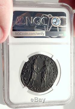 MARCUS AURELIUS & LUCIUS VERUS 162AD Sestertius Ancient Roman Coin NGC i69803