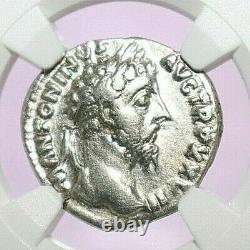 MARCUS AURELIUS NGC VF ROMAN COINS, AD 161-180. AR Denarius. A775