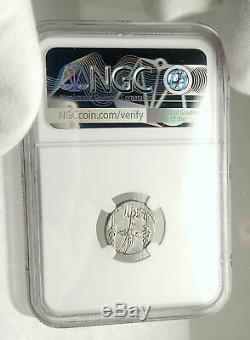 MARK ANTONY Cleopatra Lover 32BC Ancient Silver Roman Coin LEGION II NGC i76852