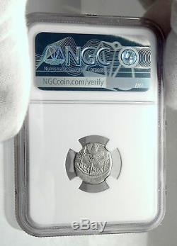 MARK ANTONY Cleopatra Lover 32BC Ancient Silver Roman Coin LEGION XIX NGC i80514