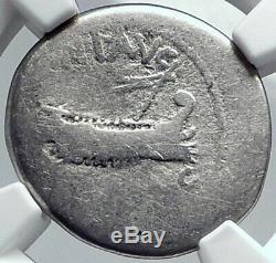 MARK ANTONY EX Julius Caesar LEGION VI Ferrata 32BC Silver Roman Coin NGC i81802