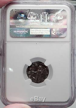 Manlia Scantilla wife Didius Julianus 193AD Authentic Silver Roman Coin NGC ChVF