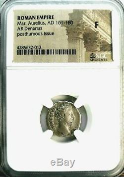Marcus Aurelius 161-180 AD. Magnificent Denarius Ancient Roman Silver Coin, NGC