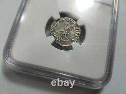 Marcus Aurelius Roman Empire NGC XF AD 161-180 AR Denarius Silver Ancient Coin