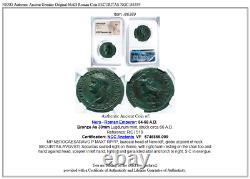 NERO Authentic Ancient Genuine Original 66AD Roman Coin SECURITAS NGC i86389