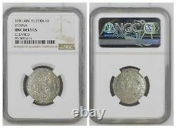 NGC Austria 1690 6K Kreuzer Vienna Leopold I Holy Roman Empire Silver Coin UNC