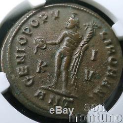 NGC CHOICE CH AU MAXIMIAN Ancient Roman Bronze Bi Nummis Coin 286-310 AD