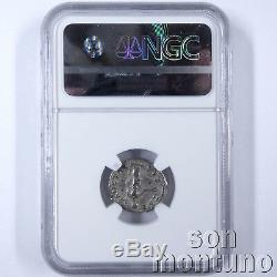 NGC CHOICE CH-XF Julia Domna Ancient Roman Empire Silver Denarius Coin 193-217AD