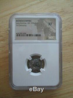 NGC Certified XF Julia Domna Roman Silver Denarius Coin 193-217AD