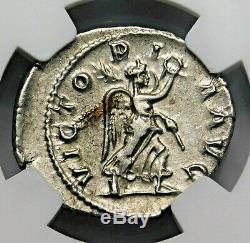 NGC Ch XF. Maximinus I. Exquisite Denarius. Ancient Roman Silver Coin