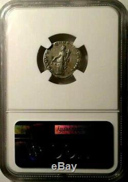 NGC Roman Trajan AR Denarius 98-117 AD Certified Choice Fine Silver Toned Coin