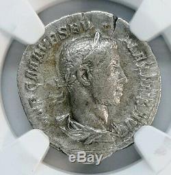 NGC VF. Severus Alexander. Roman Empire AD 222-235. Ancient Silver Denarius Coin