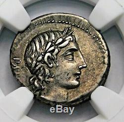 NGC XF. C. Vibius C. F. Pansa. Stunning Denarius. Roman Republic Silver Coin