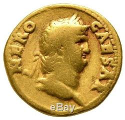 Nero (AD 54-68) Roman AV gold aureus coin Colossus RIC 46 NGC certified